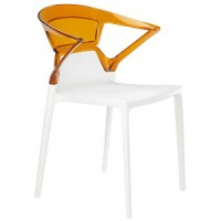 Барный стул пластиковый Ego-K orange white