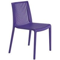 Барный стул пластиковый Cool mor (фиолетовый)