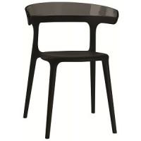 Барный стул пластиковый Luna antracite black