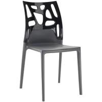 Барный стул пластиковый Ego-Rock black antracite