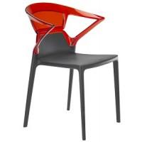 Барный стул пластиковый Ego-K red antracite