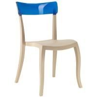 Барный стул пластиковый Hera-S trasparente blue beige