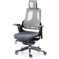 Офисное кресло для руководителя WAU slategrey fabric, snowy network (серое)