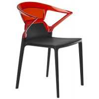 Барный стул пластиковый Ego-K red black