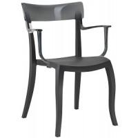 Стул пластиковый Hera-K trasparente gray black
