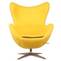 Барное кресло Egg wool yellow (Эгг желтое)