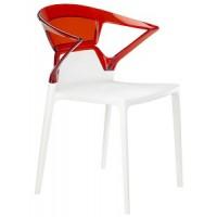 Барный стул пластиковый Ego-K red white
