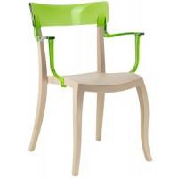 Барный стул пластиковый Hera-K trasparente green beige
