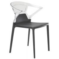 Барный стул пластиковый Ego-K trasparente antracite