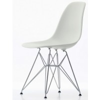 Стул Eames chrome white (Эймс белый)