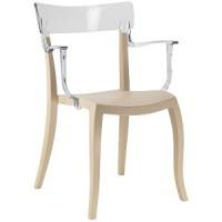 Барный стул пластиковый Hera-K trasparente beige