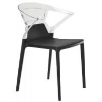 Барный стул пластиковый Ego-K trasparente black