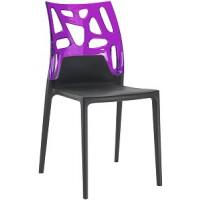 Барный стул пластиковый Ego-Rock trasparente violet black