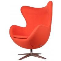 Барное кресло Egg wool orange (Эгг оранжевое)