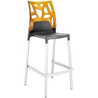 Барный стул пластиковый Ego-Rock Bar22 orange