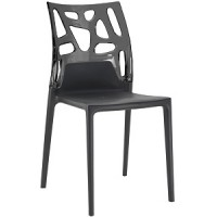 Барный стул пластиковый Ego-Rock antracite black