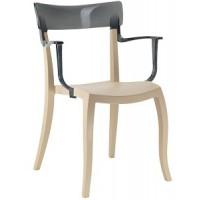 Барный стул пластиковый Hera-K trasparente gray beige