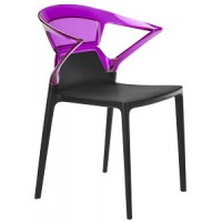 Барный стул пластиковый Ego-K violet black