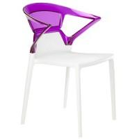 Барный стул пластиковый Ego-K violet white