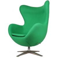 Барное кресло Egg wool green (Эгг зеленое)