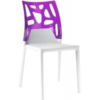 Барный стул пластиковый Ego-Rock trasparente violet white