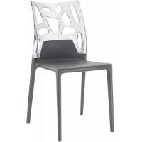 Барный стул пластиковый Ego-Rock trasparente antracite