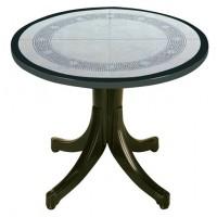 Стол для дачи Diva d90 mosaic green (Дива)