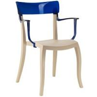Барный стул пластиковый Hera-K trasparente blue beige