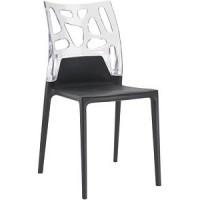 Барный стул пластиковый Ego-Rock trasparente black