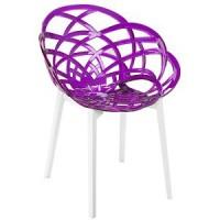 Стул пластиковый Flora base01 purple (Флора фиолетовый прозрачный)