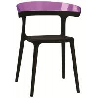 Барный стул пластиковый Luna violet black