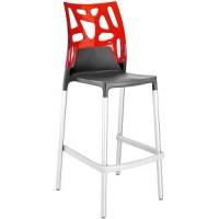 Барный стул пластиковый Ego-Rock Bar22 red