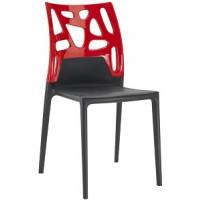Барный стул пластиковый Ego-Rock red black