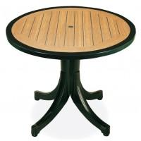 Стол для дачи Diva d90 border green (Дива)