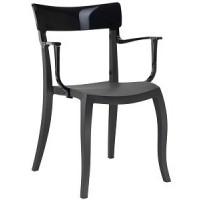 Барный стул пластиковый Hera-K black (черный)