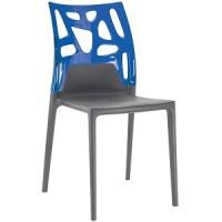 Барный стул пластиковый Ego-Rock trasparente blu antracite