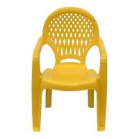 Детский пластиковый стул Ромб СТ030В желтый