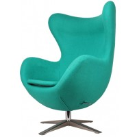 Барное кресло Egg wool turquoise (Эгг бирюзовое)