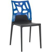 Барный стул пластиковый Ego-Rock trasparente blu black