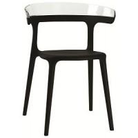 Барный стул пластиковый Luna trasparente black