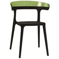 Барный стул пластиковый Luna green black