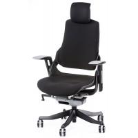 Офисное кресло для руководителя WAU black fabric (черное)
