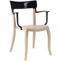Барный стул пластиковый Hera-K black beige