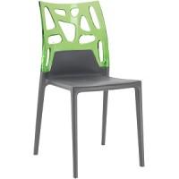 Барный стул пластиковый Ego-Rock trasparente green antracite