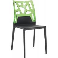 Барный стул пластиковый Ego-Rock trasparente green black