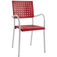 Барный стул пластиковый Karea red