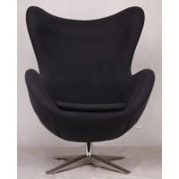 Барное кресло Egg wool dark grey (Эгг темно-серое)