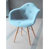 Кресло Paris arm wood wool light blue (Пэрис светло-голубой)
