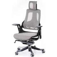 Офисное кресло для руководителя WAU snowy network (серое)