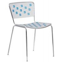 Барный стул Mosaico light blue (Мозаика голубой)